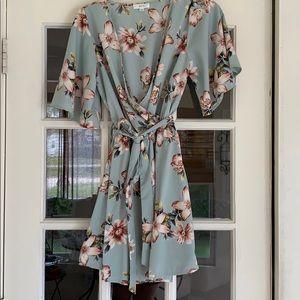 Dresses & Skirts - Light Blue Floral Dress